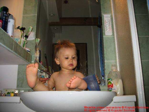 Marysia w kąpieli