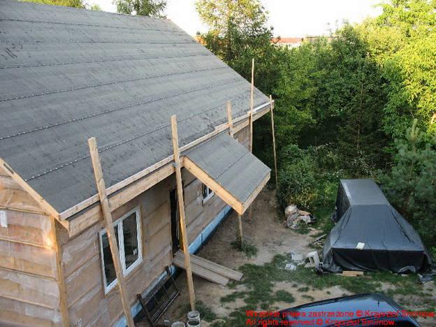 widok z góry na dom