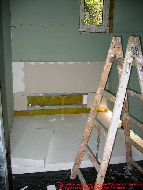 ocieplenie podłogi w łazience + dziury pod oczka wodne