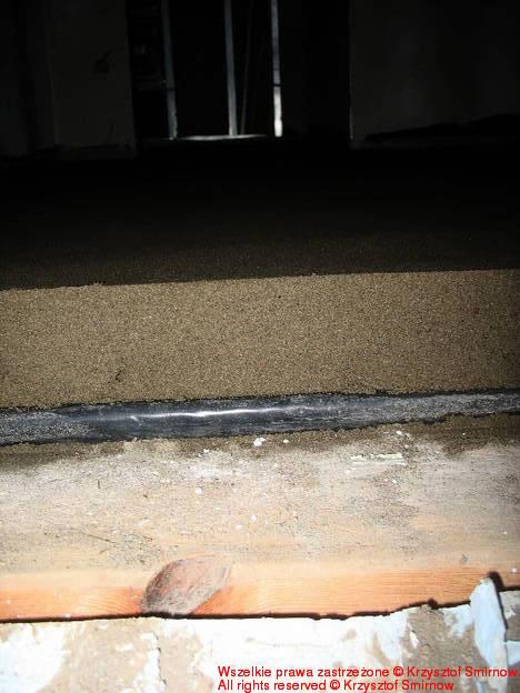 Widok na warstwy podłogi.