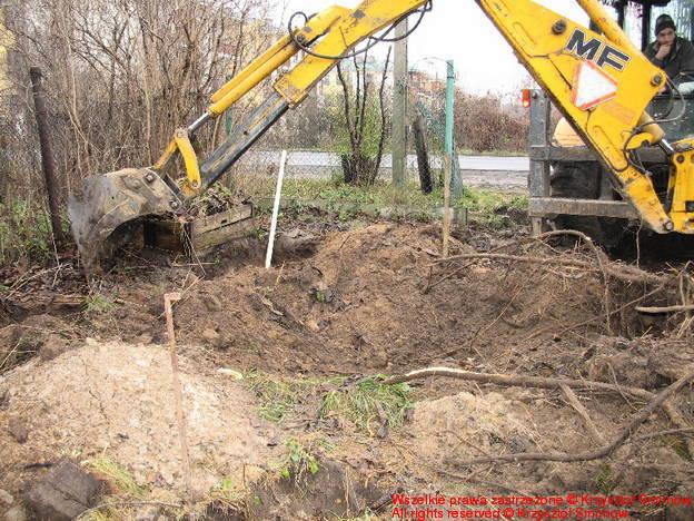 Kopara zaczęła kopać.