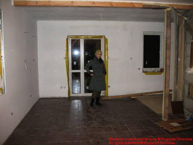 Inwestorka w salonie - czy ty myślisz, że ja będę tu mieszkać?!