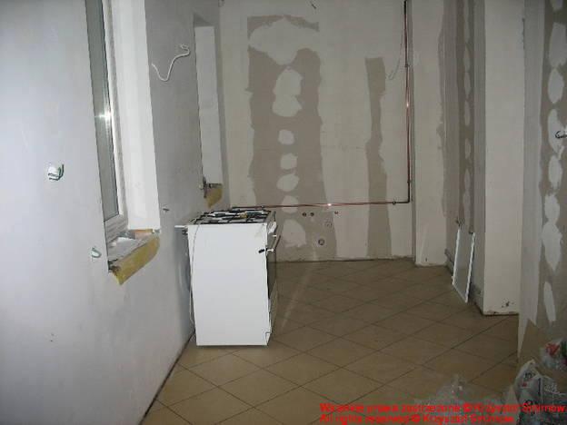 Podłączona kuchenka gazowa