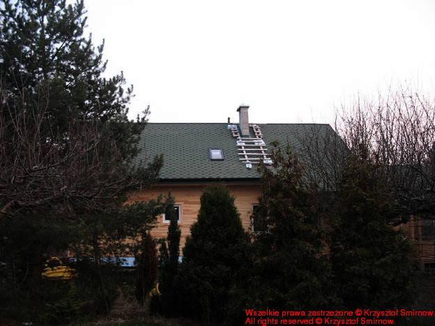 Gotowy dach pyszni się po północnej stronie