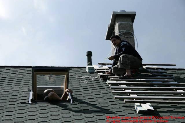 montaż na dachu