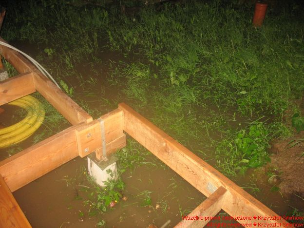 Woda już pod werandą
